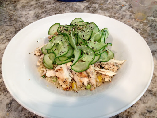 Victory! and Spicy Herbed Chicken and Quinoa Salad with Cucumber Ribbons
