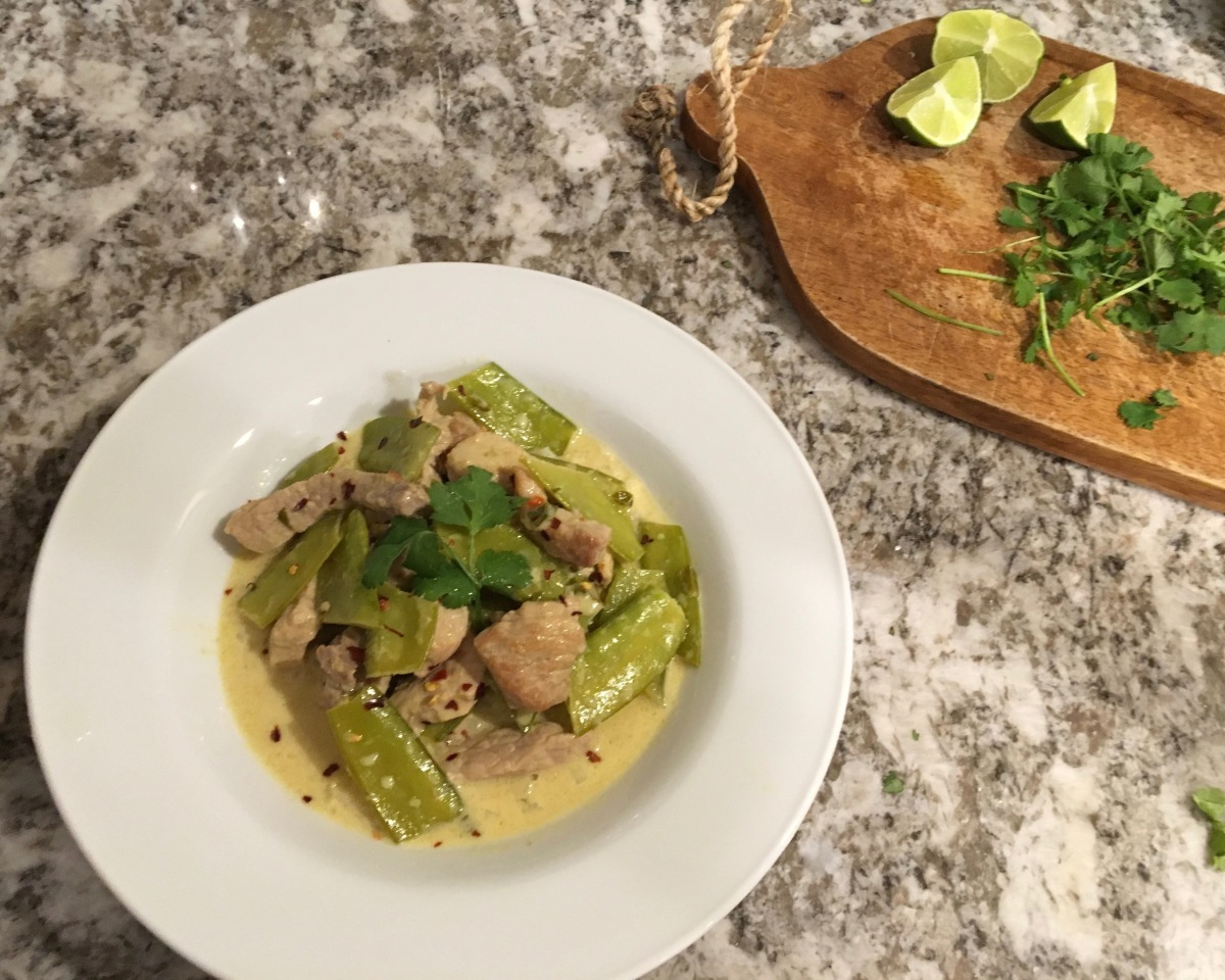 The Night I Asked You Out, and My Thai-Inspired Green Curry with Pork and Snow Peas