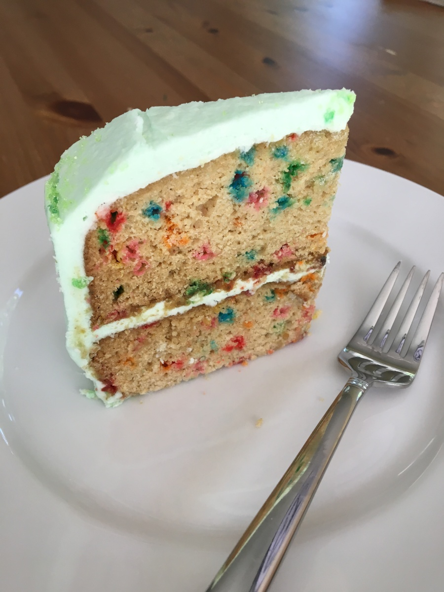 The Great Cake Debate, and Vanilla Confetti Cake (GF/DF/NF)